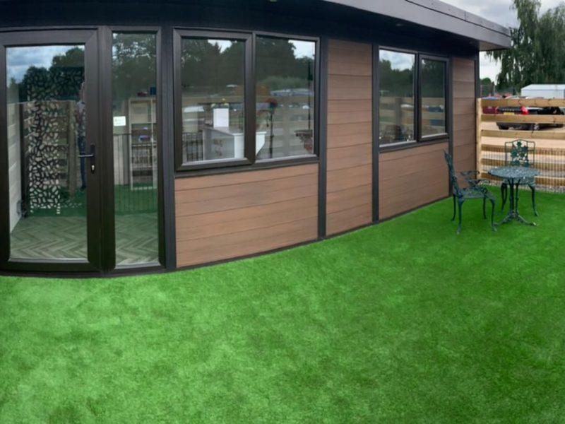 Birmingham Garden Room Dog Groomer Finishing Outside Piece